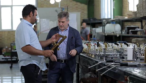 Mr. Carlos Diez Visit to Shouder Factory